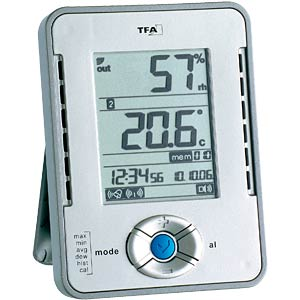 Professional thermo-hygrometer with data logger TFA DOSTMANN 30.3015