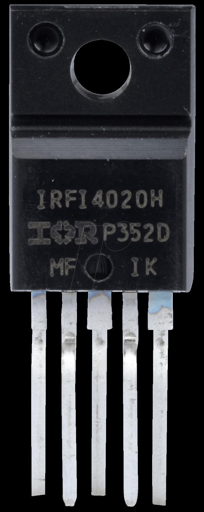 IRFI 4020H-117 - MOSFET, P-CH, 200V, 9,1A, 21W, TO-220-5-Fullpak