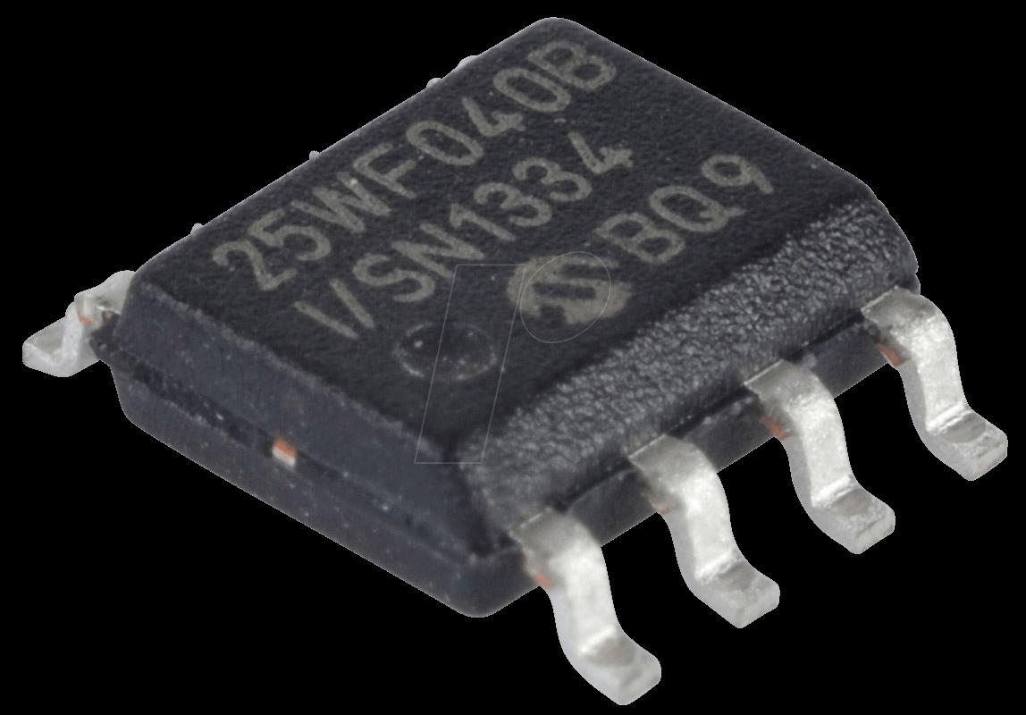 MICROCHIP SST 25VF040B - SPI Serial Flash, 2,7V, 4Mbit, USON-8 SST25VF040B-50-4I-S2AE