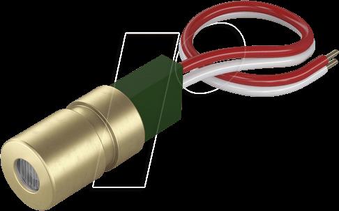PICO 70103861 - Punkt Lasermodul, rot, 650 nm, 3 VDC, 8x23 mm, Klasse 2