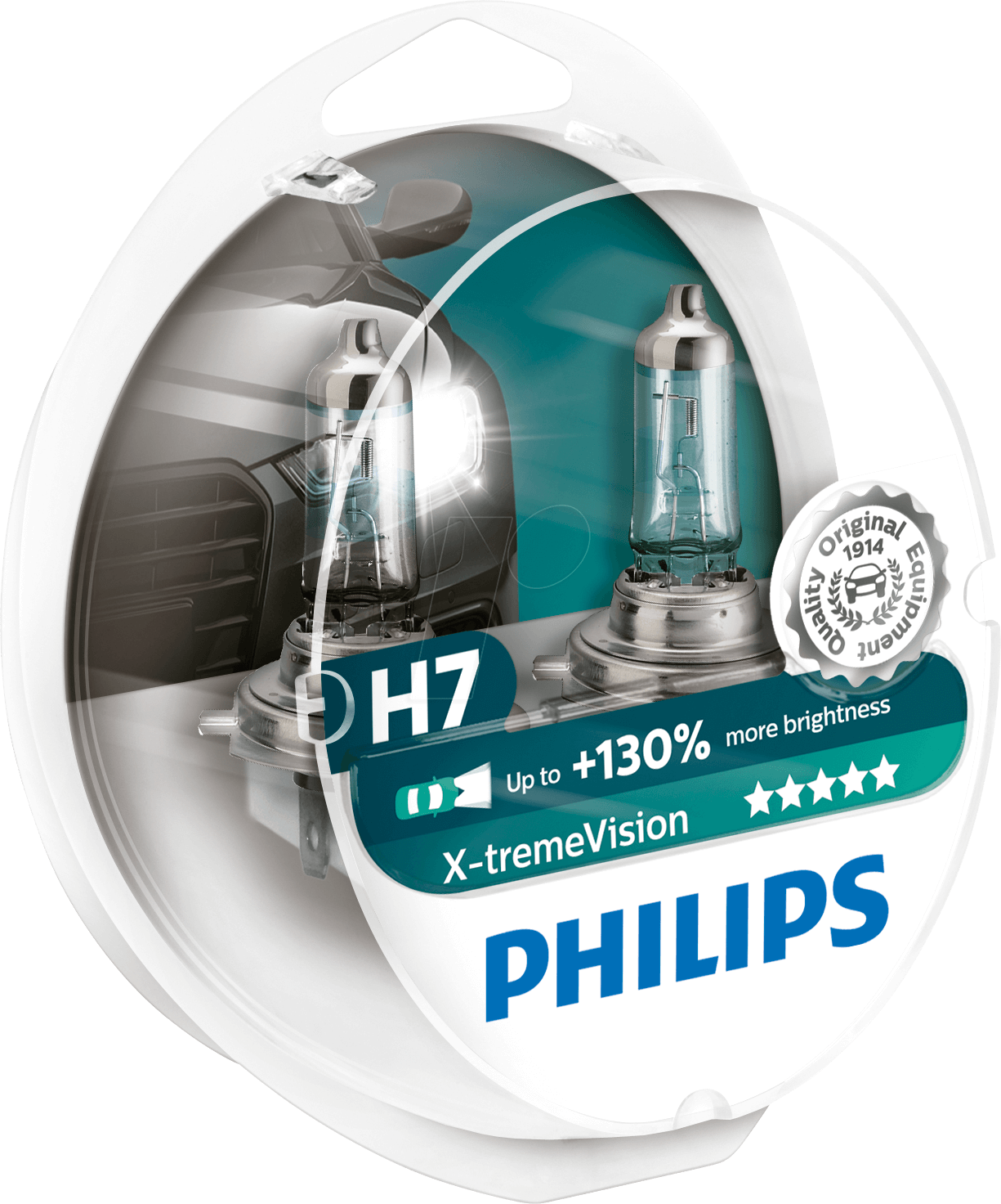 phi h7 xtreme 2 h7 headlight bulb philips x treme vision. Black Bedroom Furniture Sets. Home Design Ideas
