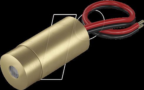 PICO 70131512 - Punkt Lasermodul, rot, 650 nm, 3-6 VDC, 9x20 mm, Klasse 2