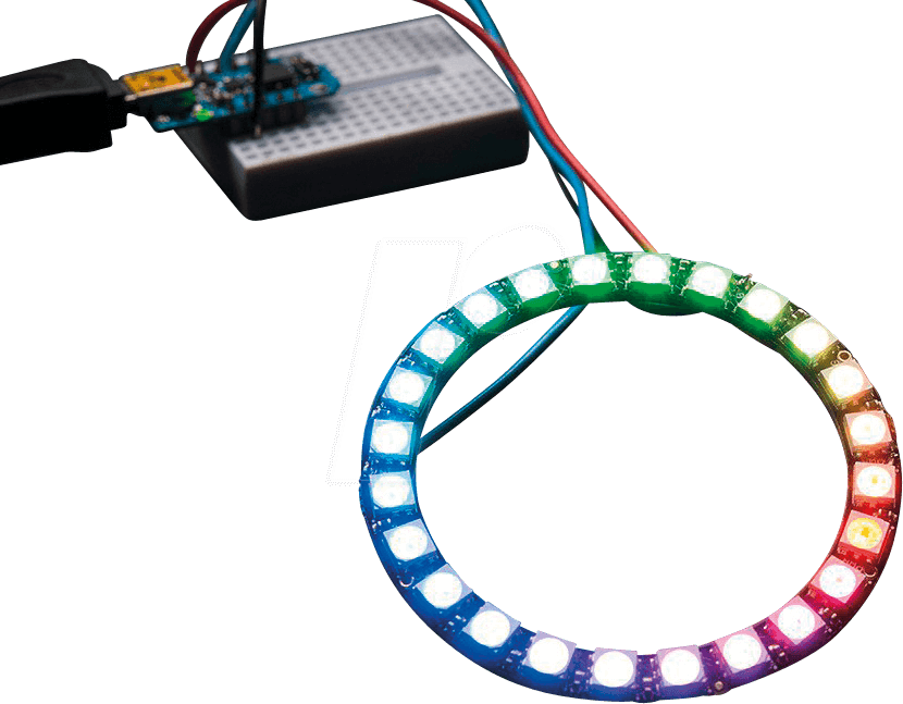 DEBO LED NP24 - Development boards - NeoPixel-Ring with 24 RGB-LEDs