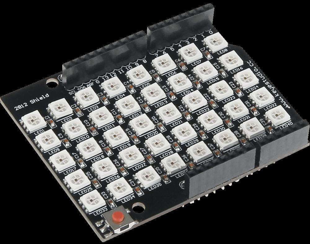 ARD SHD MATRIX40 - Arduino Shield - RGB Matrix, 40 LEDs, WS2812