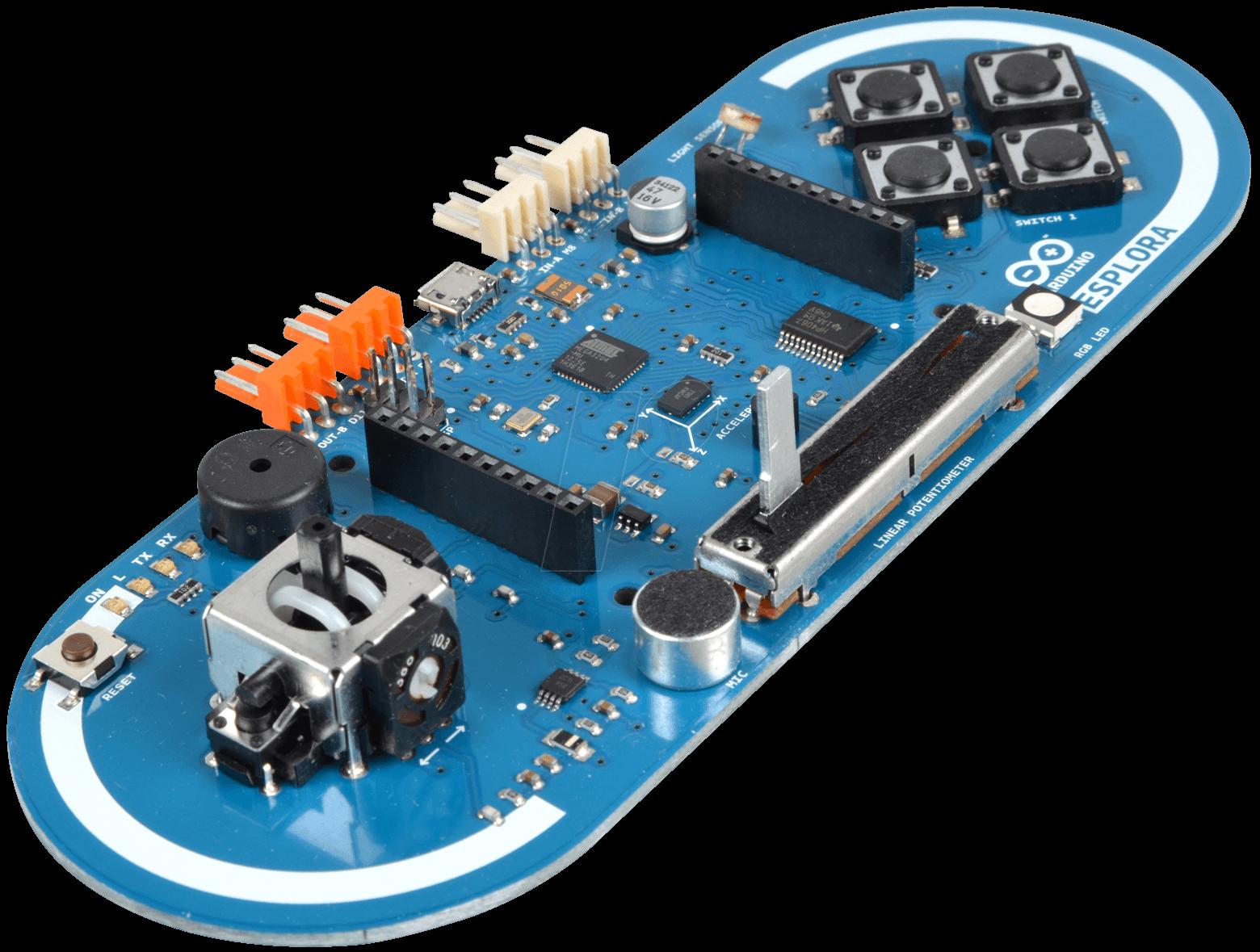 Arduino esplora microcontroller board atmega u sensors