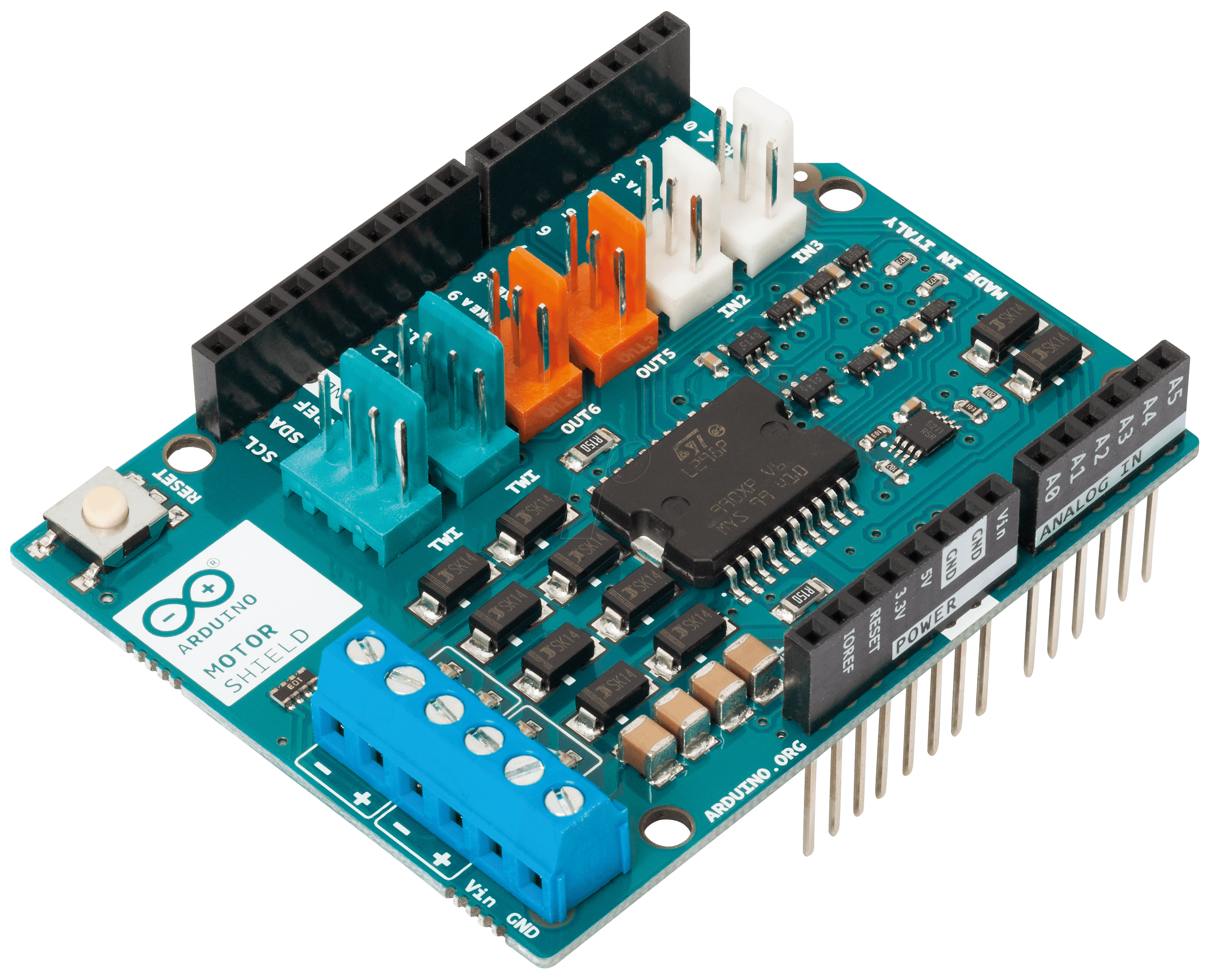 Arduino shd mot motor shield l at reichelt