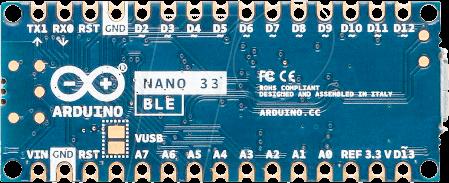 ARD NANO 33BLE H - Arduino Nano 33 BLE, nRF52840, with header