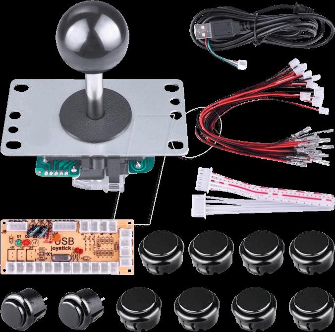 DEBO ARCADE KIT - Developer boards - arcade button/joystick kit