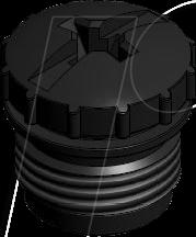 M12X1K 43-16211 - Schutzkappe für M12x1 Kupplung, schwarz