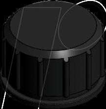 M12X1K 43-16213 - Schutzkappe für M12x1 Stecker, schwarz