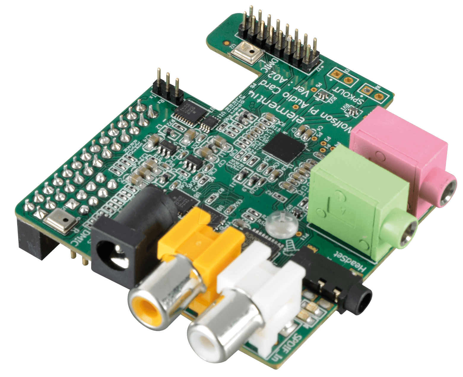Rasp Wolf Audio Card For Raspberry Pi A Or B At Reichelt Using Microphone With An Arduino Electrical Engineering Wolfson Microelectronics