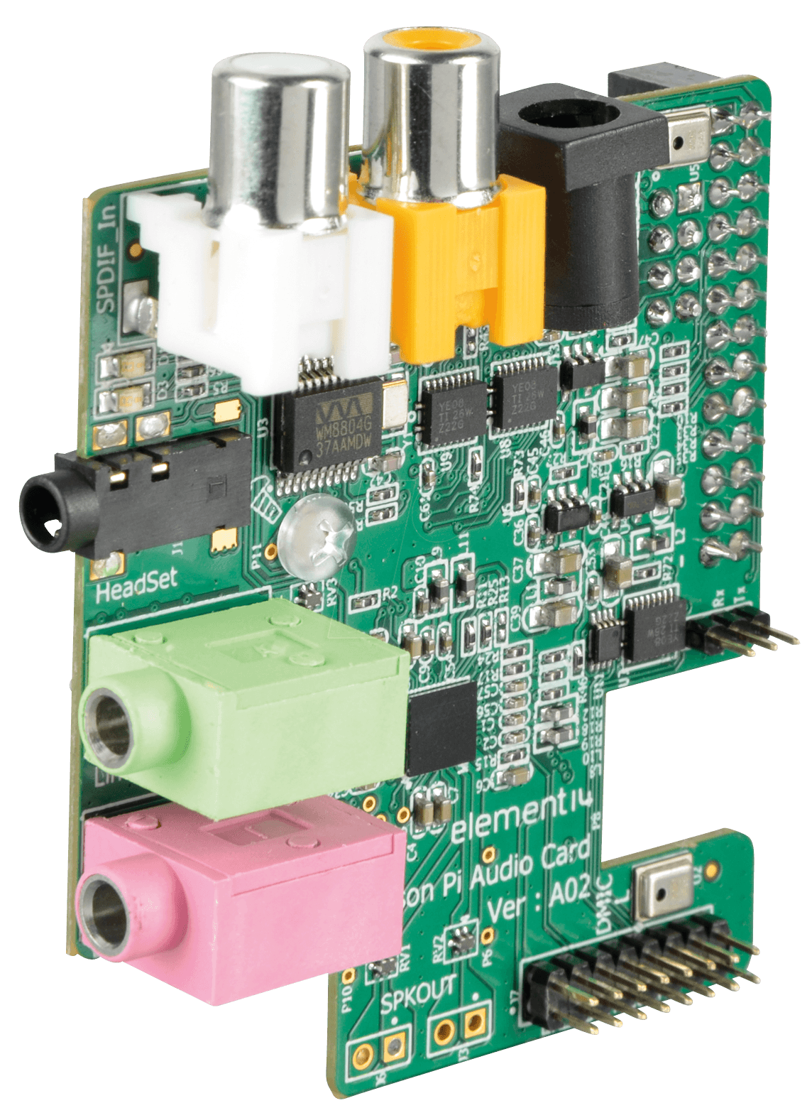 RASP WOLF AUDIO - AUDIO CARD for Raspberry Pi A or B