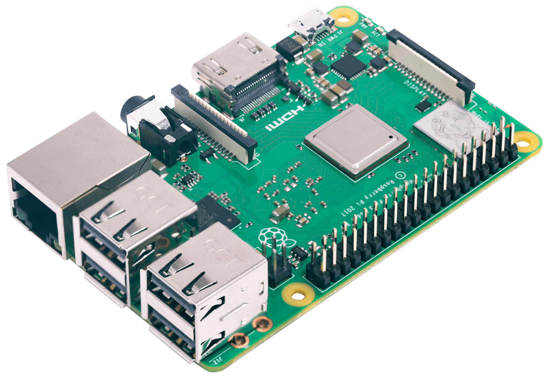RASPBERRY PI 3B+ - Raspberry Pi 3 B+, 4x 1,4 GHz, 1 GB RAM, WLAN, BT