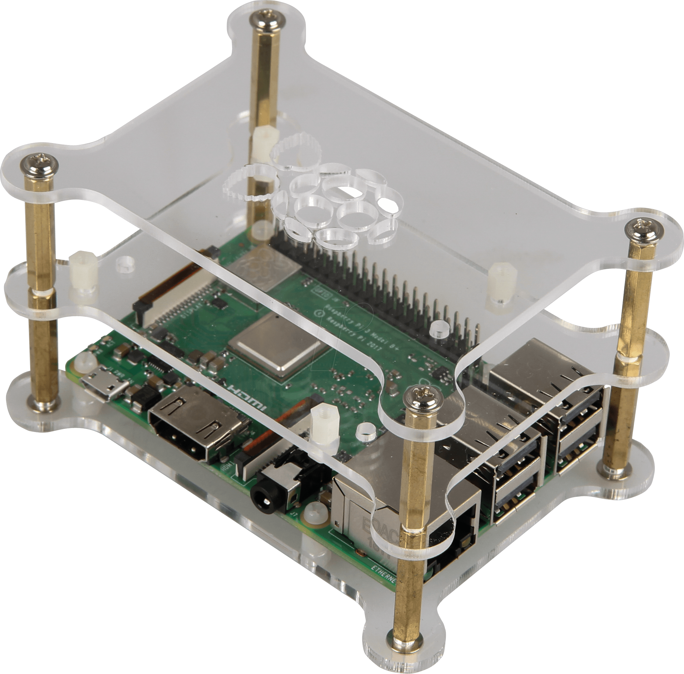 RPI CASE MAKER3X - Case for Raspberry Pi 4, 3x acrylic, transparent