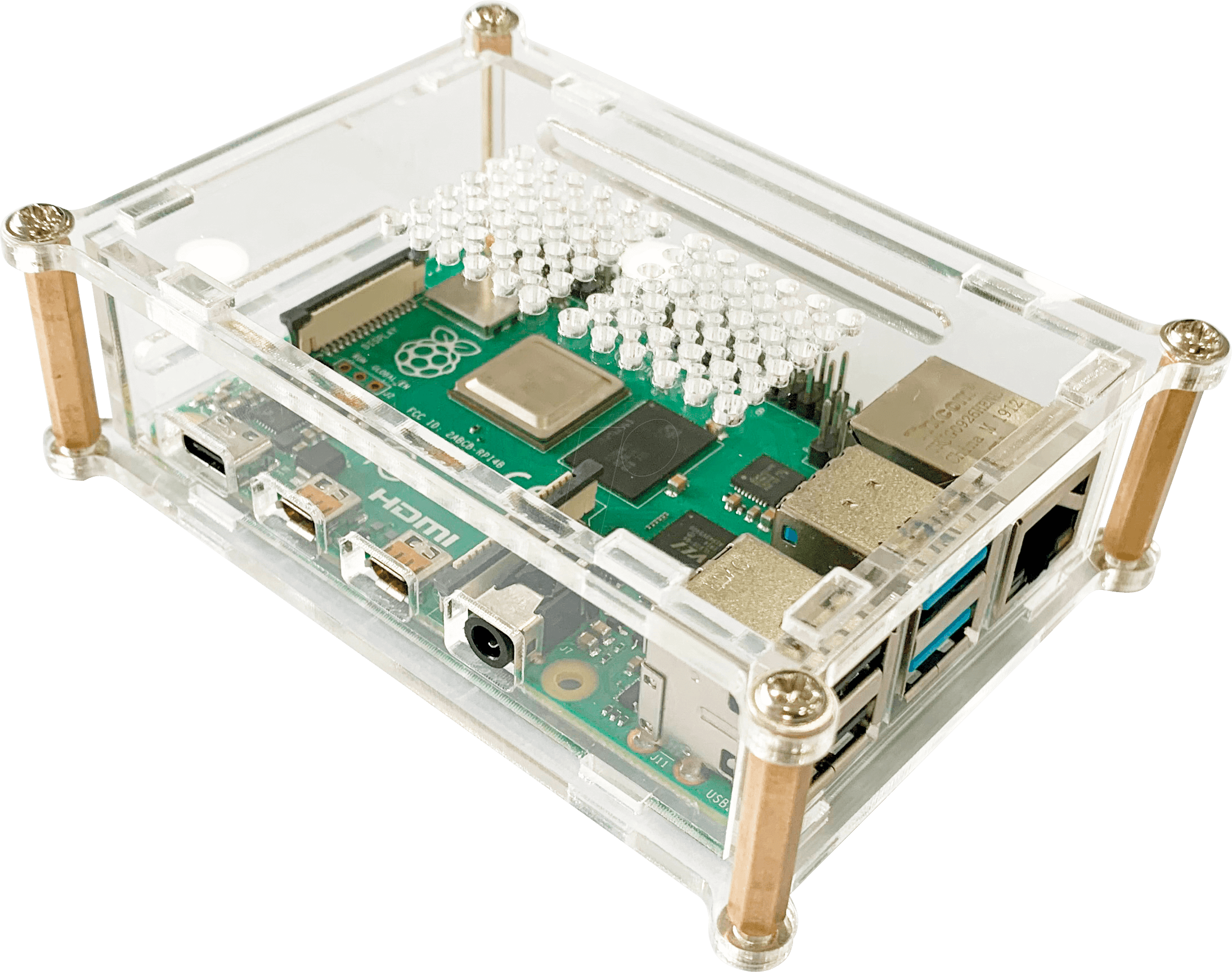 RPI CASE TR 01 - Housing for Raspberry Pi 4, plastic, transparent