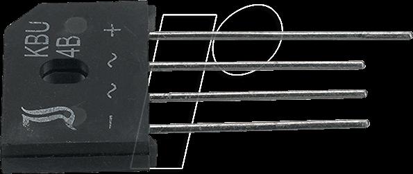KBU4B DIO - Brückengleichrichter, 100 V, 4 A