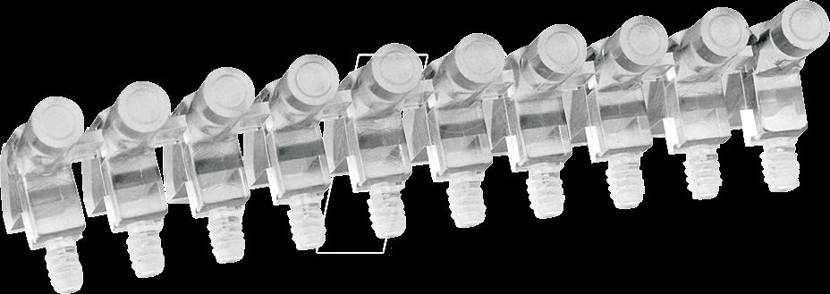 MEN 12711010 - Lichtleiter, SMD, 1x10-fach, ø 3 mm, planar, abgewinkelt