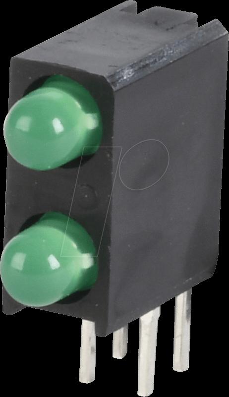 KBT L-7104MD/2GD - LED module, green, 3 mm, 20 mcd, 40°