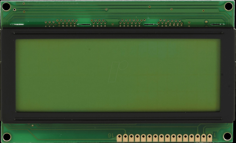 LCD-PM 4X20-6 A - LCD-Modul, 4x20, H:6,4mm, ge/...