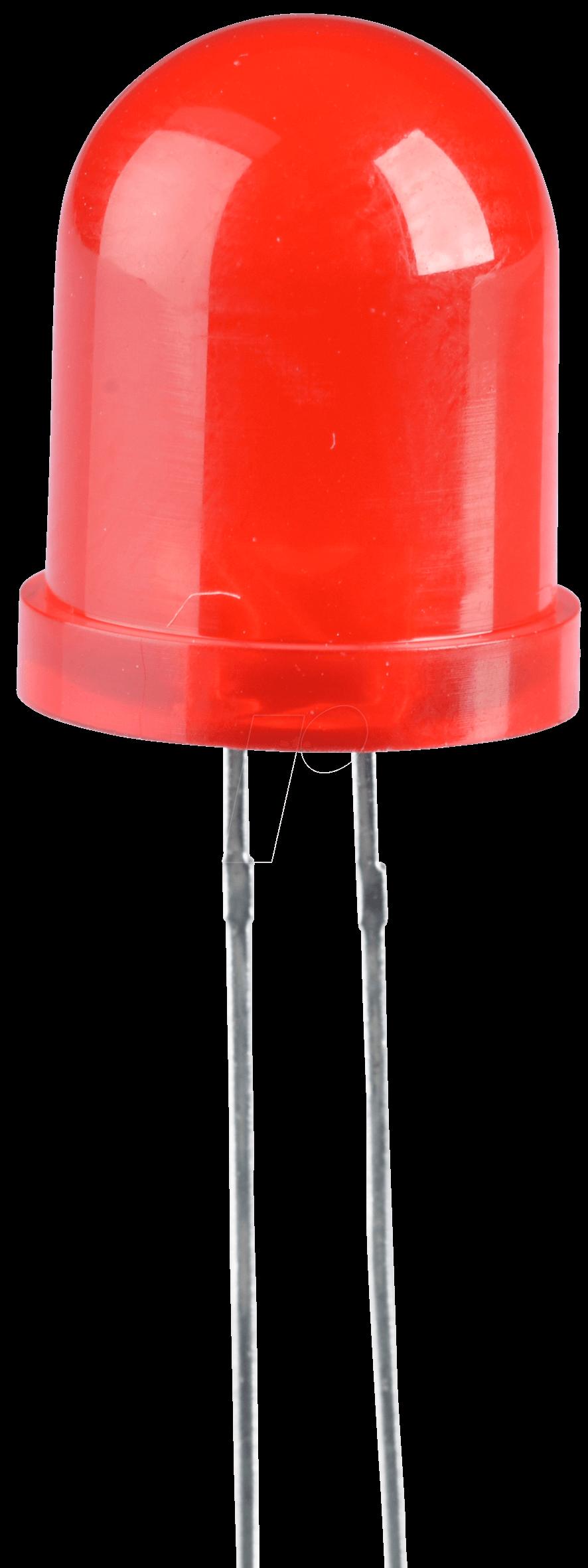 LED 10MM RT - LED, 10 mm, bedrahtet, rot, 100 mcd, 60°