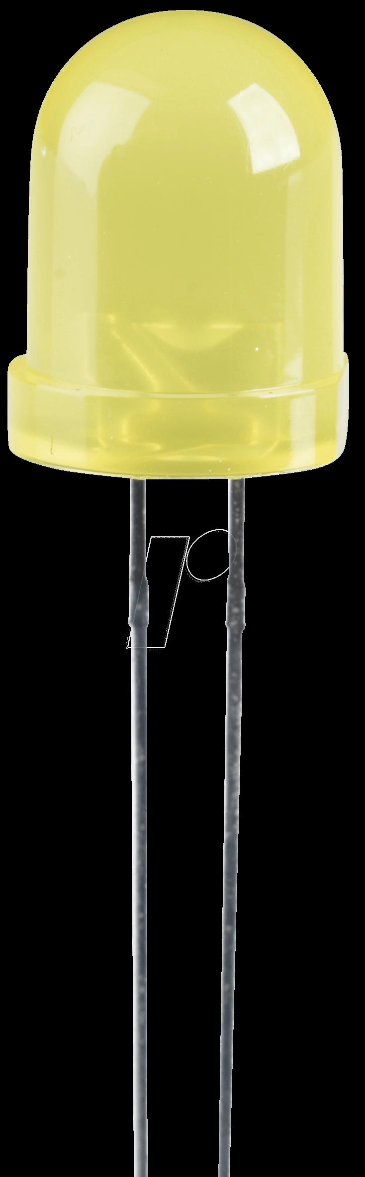 LED 8MM GE - LED, 8 mm, bedrahtet, gelb, 70 mcd, 50°