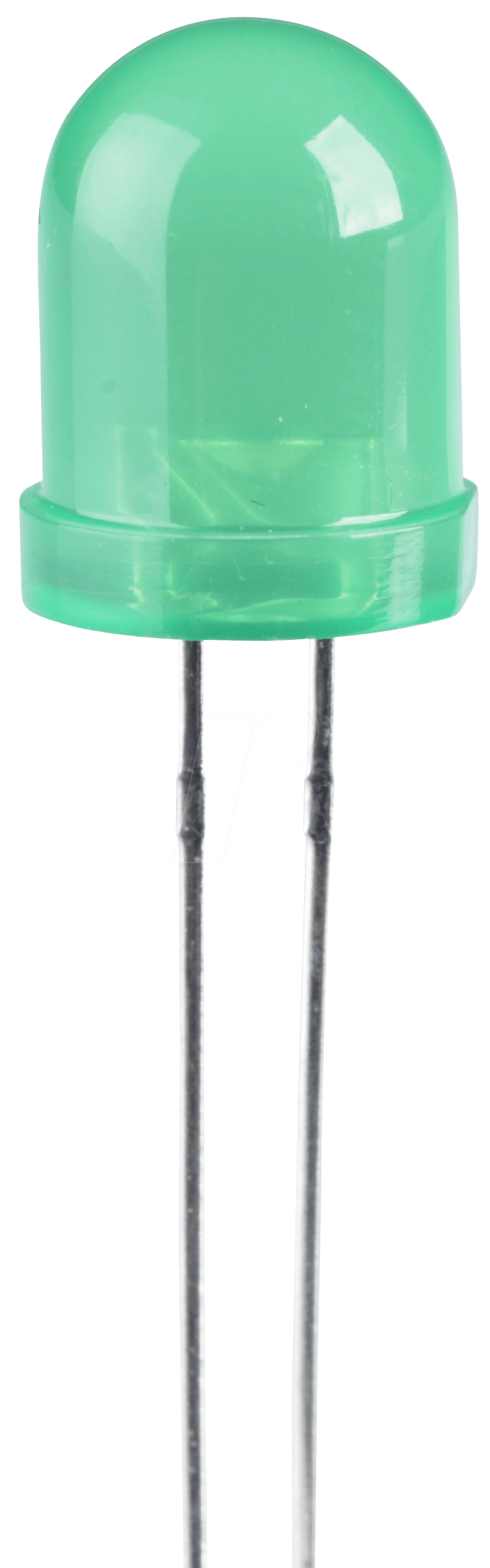 LED 8MM GN - LED, 8 mm, bedrahtet, grün, 70 mcd, 50°