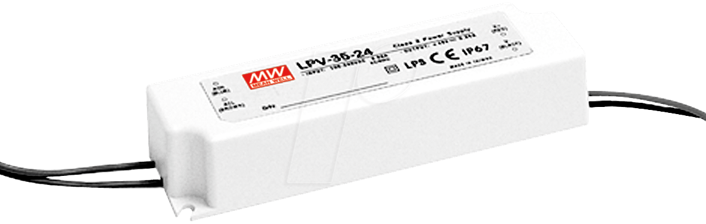 MW LPV-35-12 - Schaltnetzteil f. LED, 36W /12V /3,0A