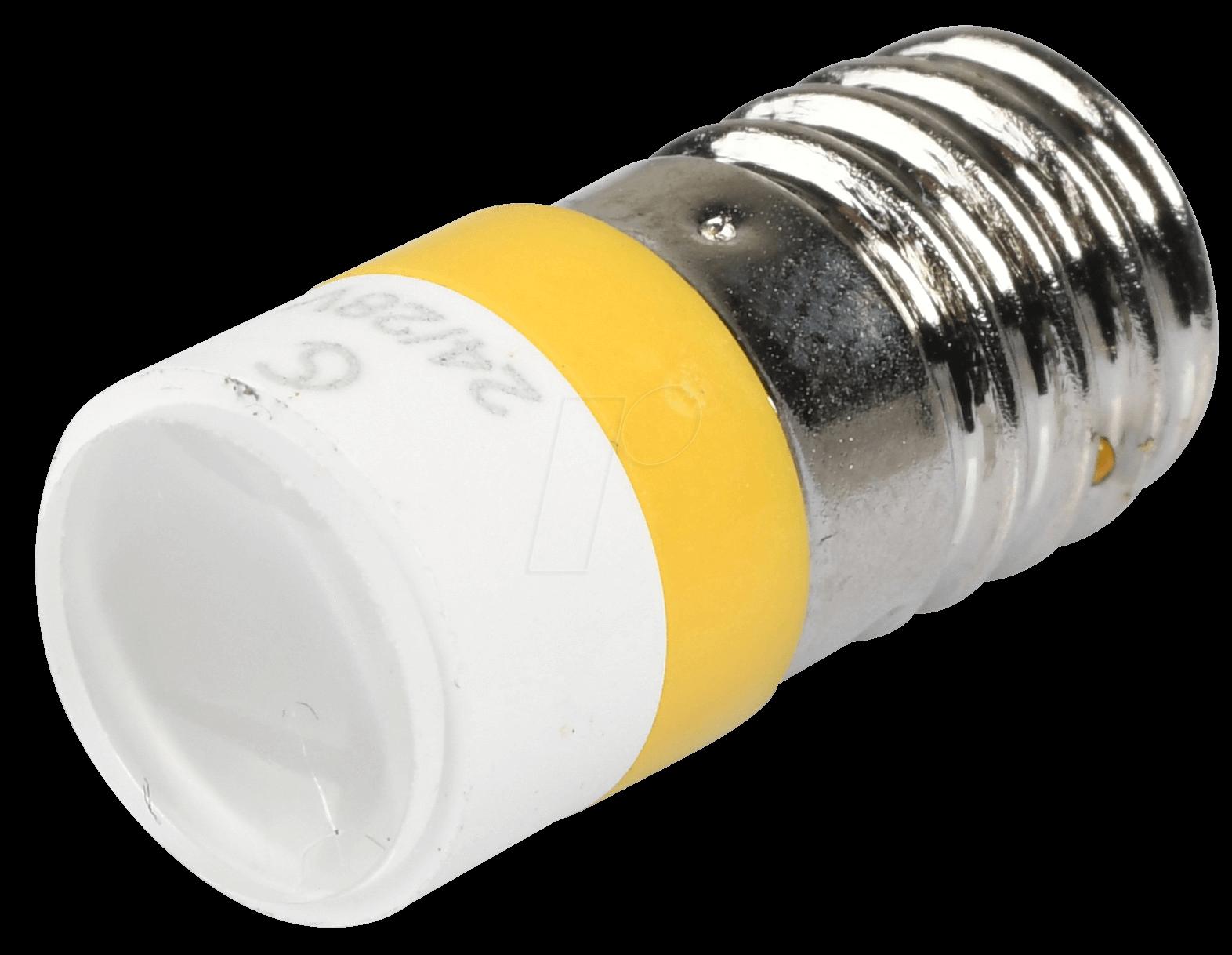 MELE 2214 - LED-Spot-Light, E10, gelb, 24 V, 35...