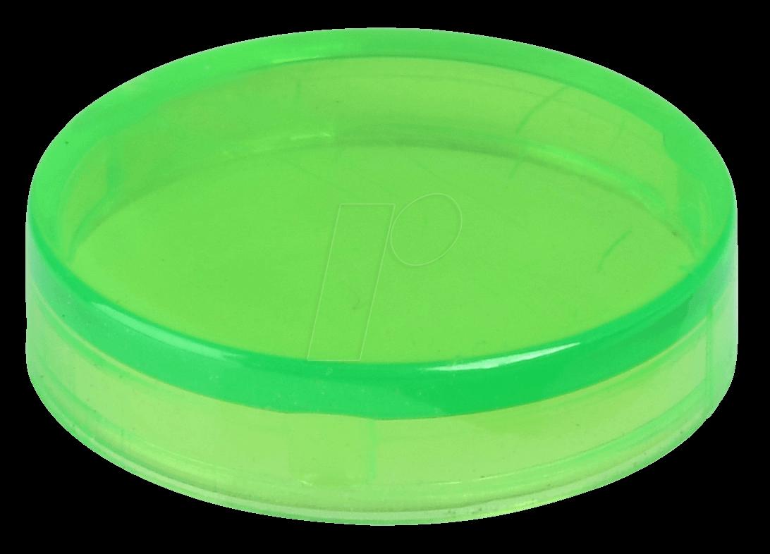 REFL KAPP GL GN - Reflektorabdeckkappe, glatt, grün