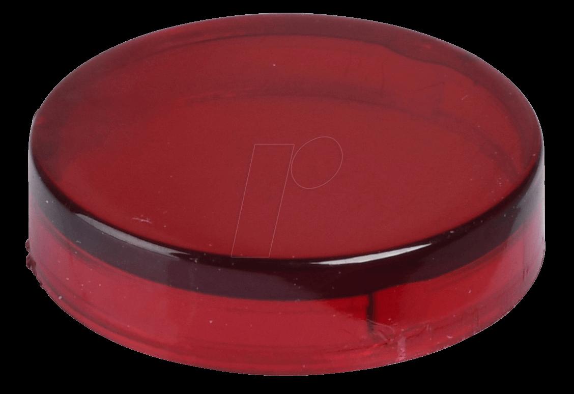 REFL KAPP GL RT1 - Reflektorabdeckkappe, glatt, dunkelrot