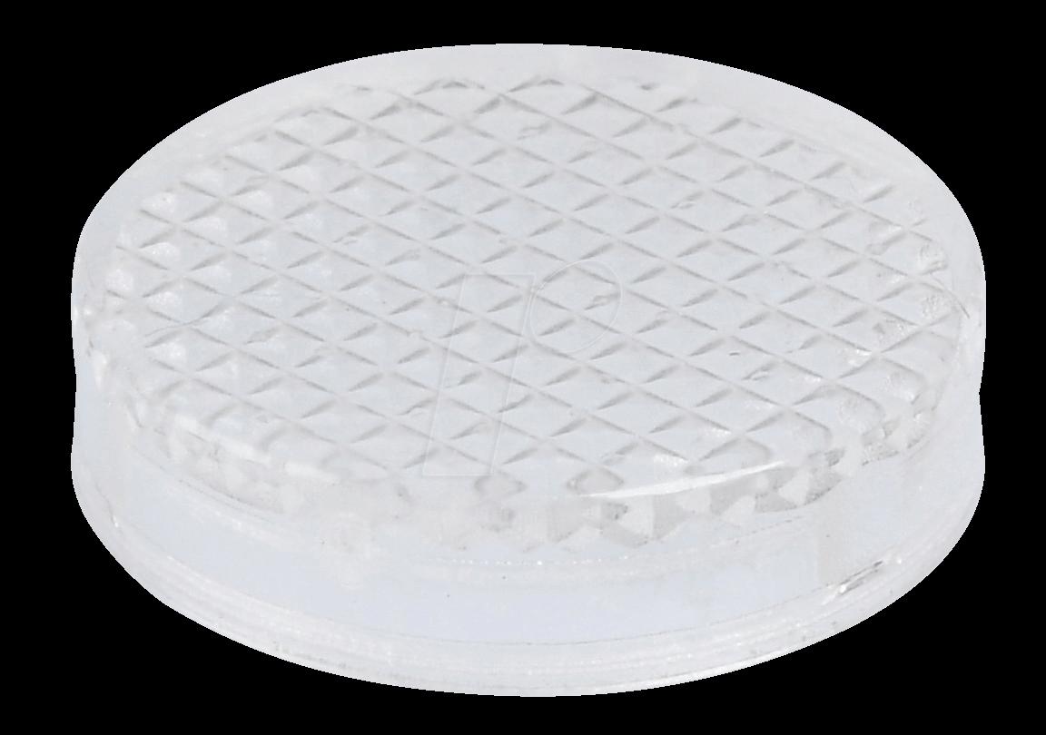 REFL KAPP ST TR - Reflektorabdeckkappe, Struktur, transparent