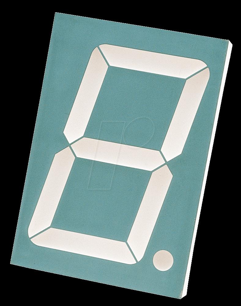 SA 23-12 RT - 7-Segment-Anzeige, rot, 56,9mm, gem. Anode