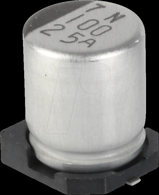SUNC 16CE100KX - SMD-Elko, 100 µF, 16 V, 105 °C, 1000 h