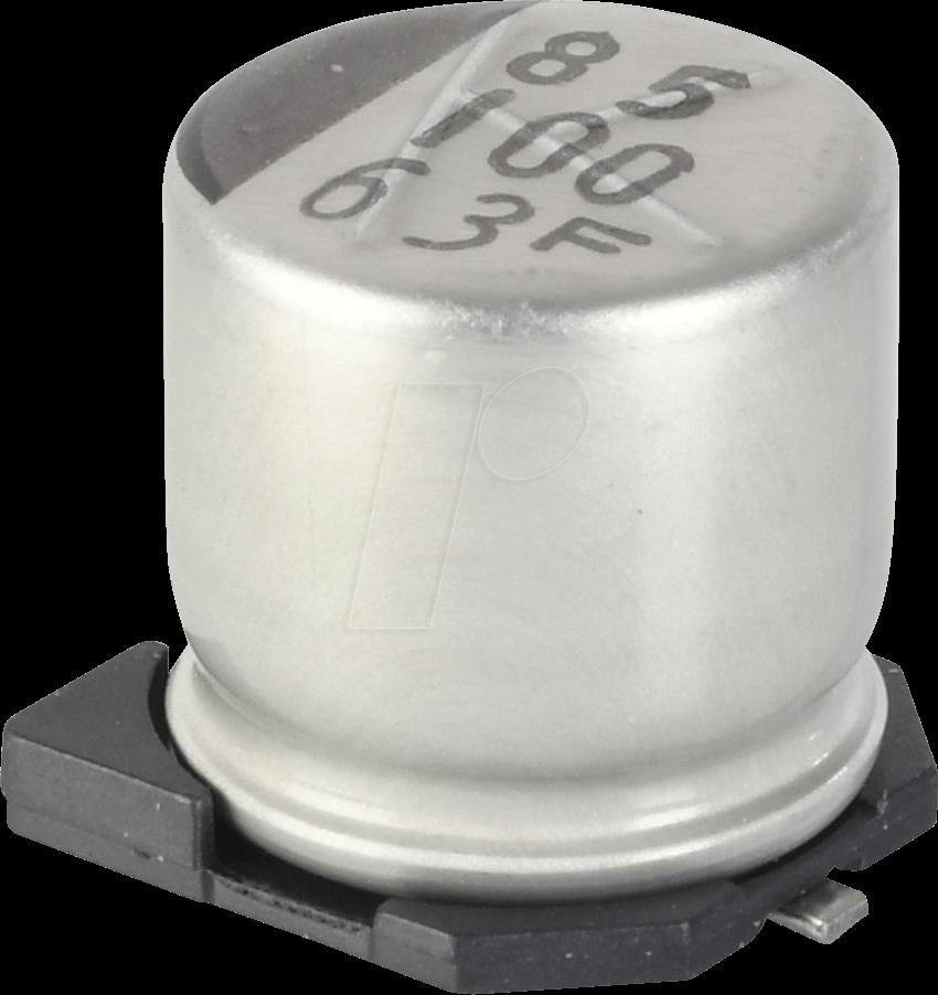 SUNC 63CE100KX - SMD-Elko, 100 µF, 63 V, 105 °C, 2000 h