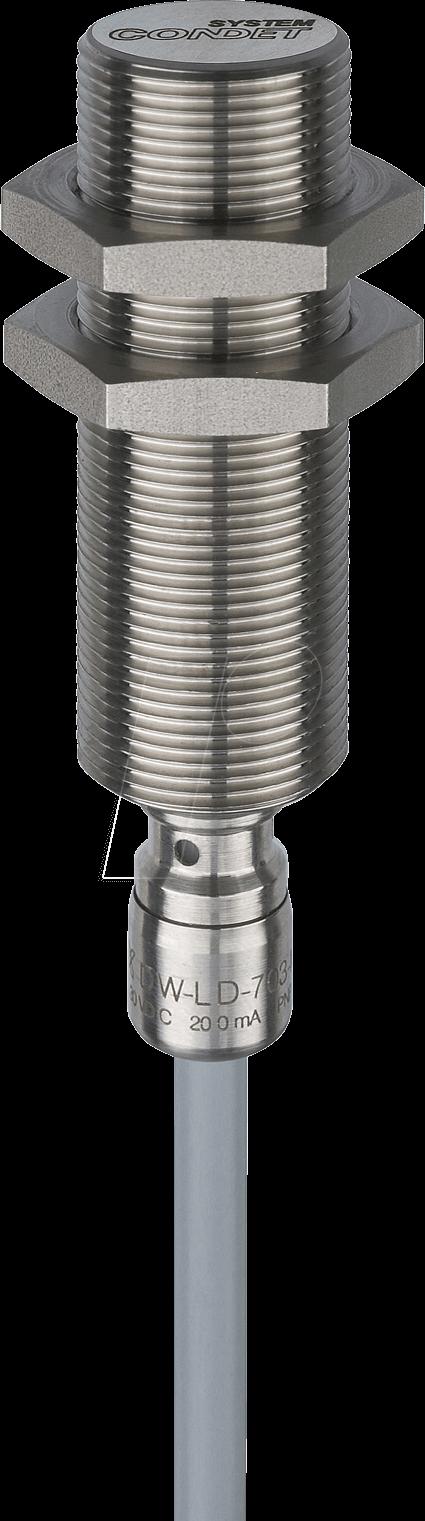 DWLD 704 M18 - Induktiver Näherungssensor, Öffner, M18