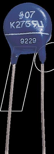 VDR-0,6 270 - Varistor,Rm 7,5mm, 0,6W, 275VAC