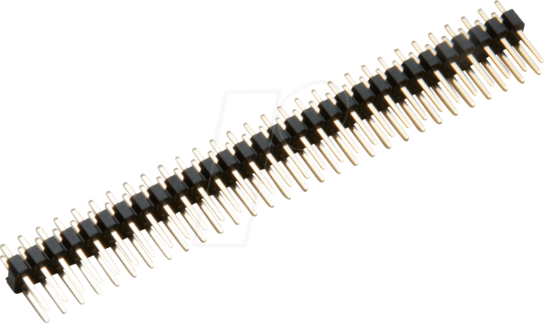 vergoldet 2x 8-polig Buchsenleiste