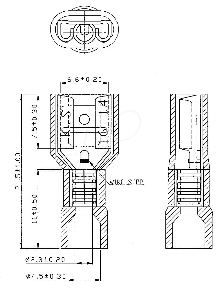 rnd 465 00076 flachsteckh lse 6 3 x 0 8 mm blau 100 stk bei reichelt elektronik. Black Bedroom Furniture Sets. Home Design Ideas