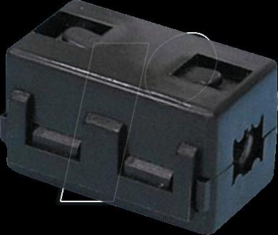 RND 165-00009 - Klappferrit für Rundkabel, Ø bis 10 mm, quadratisch
