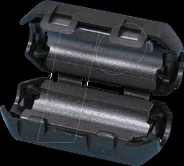 RND 165-00008 - Klappferrit für Rundkabel, Ø bis 5 mm, rund