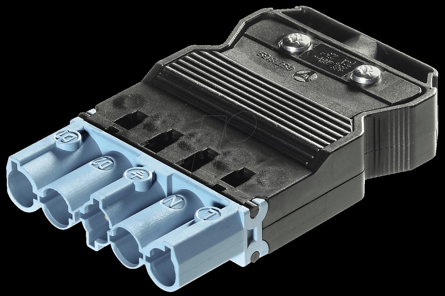 GST 18-5SS1 Z-BL: Stecker - 5-polig, blau, Schraubanschluss bei ...