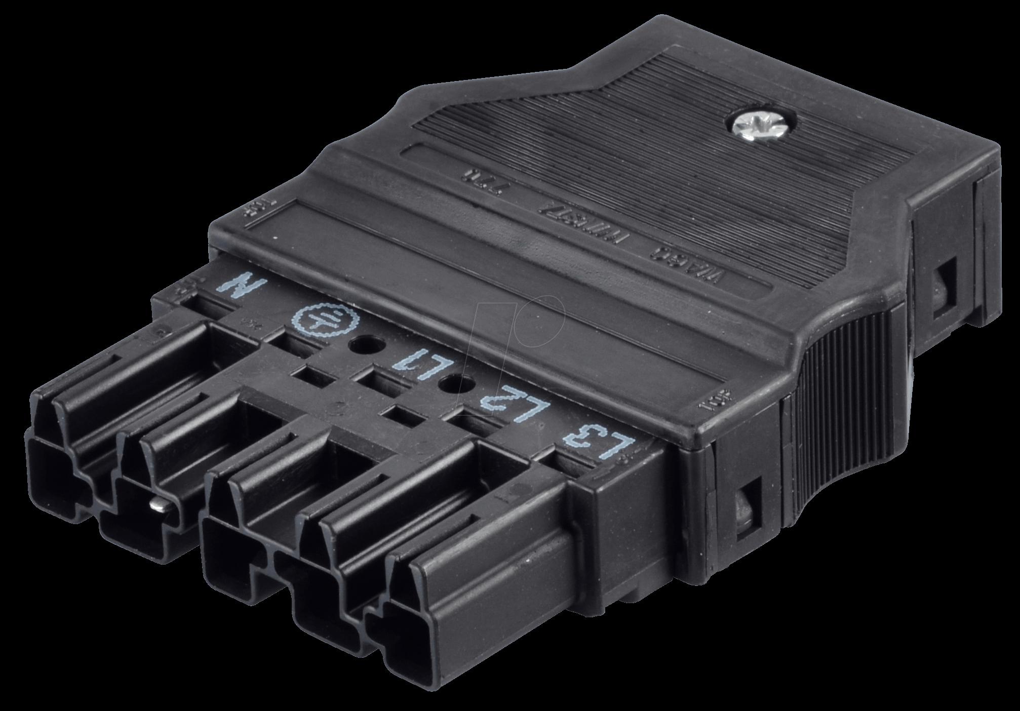 WAGO 770-115: WINSTA® MIDI, Stecker 5-pol, mit Zugentlastungsgehäuse ...