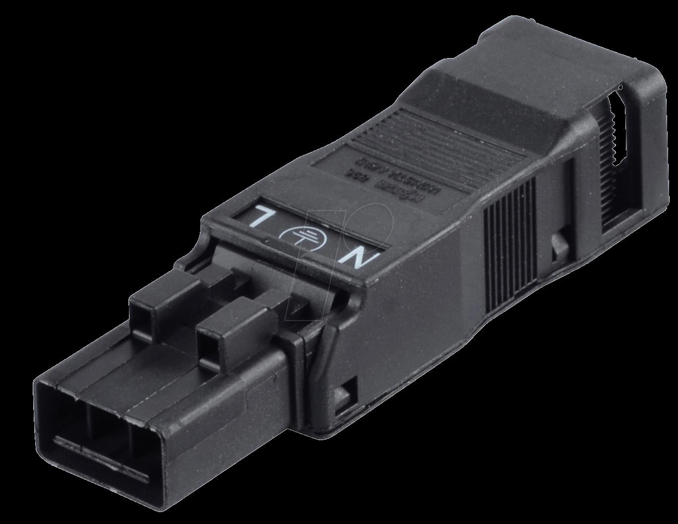 890-113 - WINSTA® MINI, Stecker 3-pol, mit Zugentlastungsgehäuse