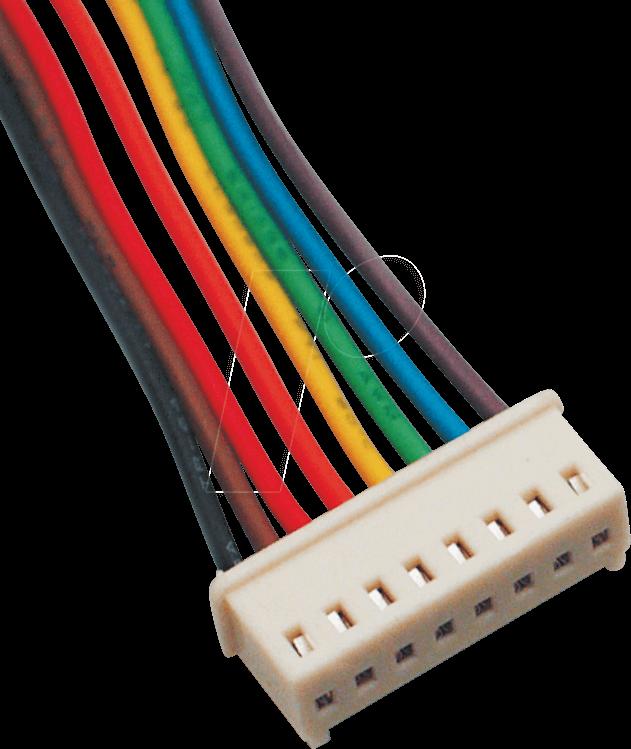 PS 25/2O W - PS-Oberteil, 2-pol, mit Kabel 25cm, weiß