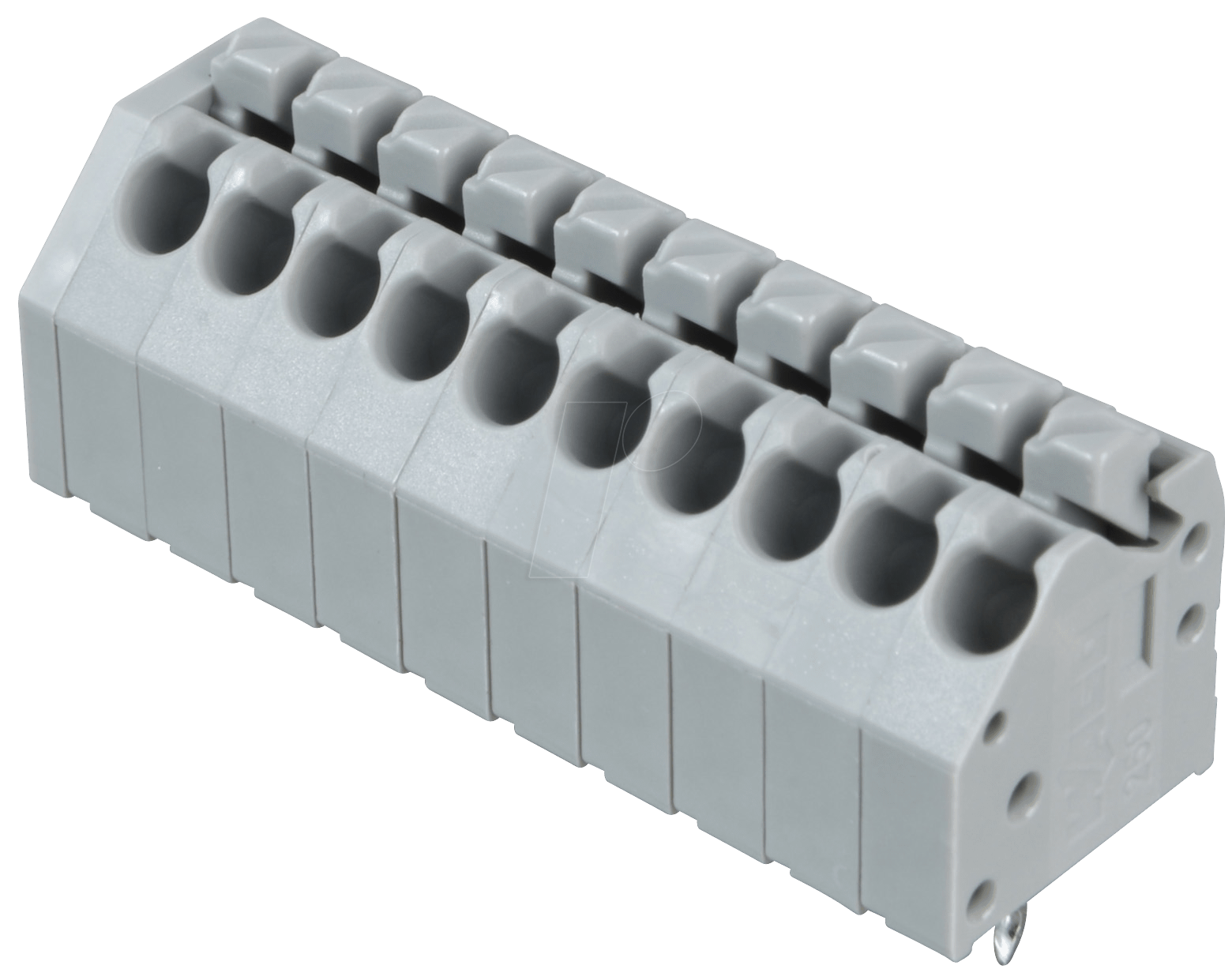 Terminal strip with operating push buttons, RM 3.5 mm, 8A, 10-pi