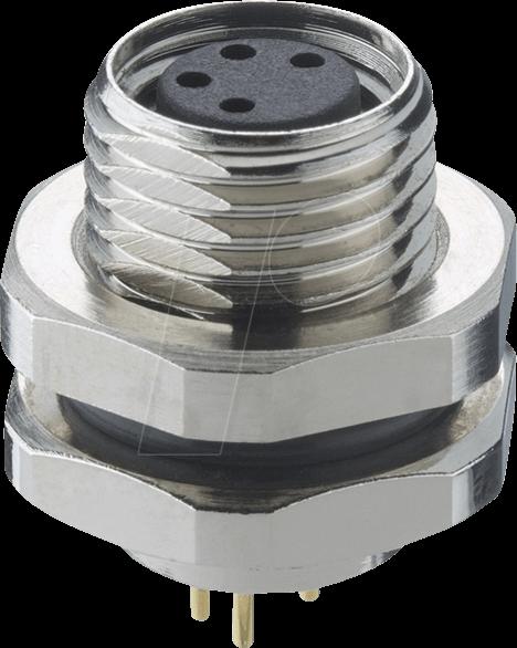 LUT 0821 T10CP03 - Einbausteckverbinder, M8, 3 pol, Kupplung