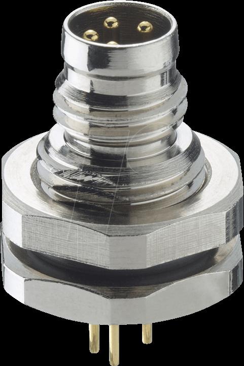 LUT 0831 T10CP03 - Einbausteckverbinder, M8, 3 pol, Stecker