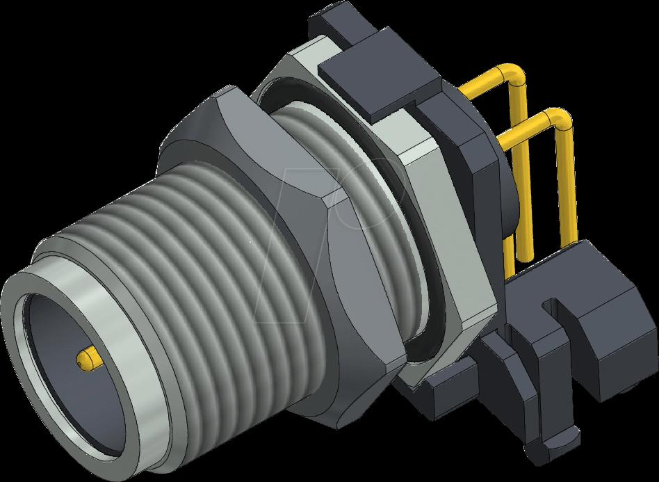 CONEC 43-01206 - SAL M 12, 5-pol, Einbaustecker, gewinkelt