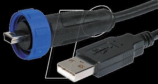 px0441 4m50 einbau stecker mit kabel mini usb typ b usb typ a bei reichelt elektronik. Black Bedroom Furniture Sets. Home Design Ideas