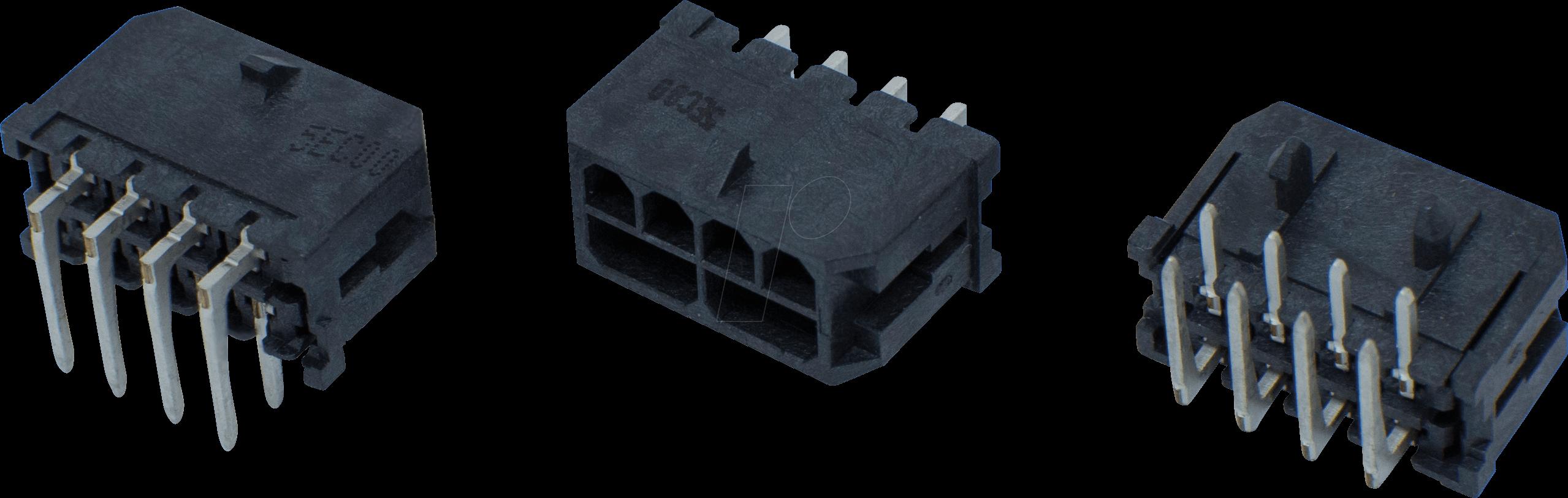 MH 2X8 THT90 - Micro-Hi Stiftleiste 2x8 polig 90° THT